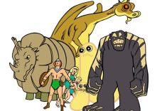 Crédito: Hanna-Barbera/Divulgação. Personagens do desenho Herculóides, exibidos no fim de 1970.